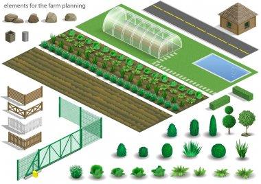 Set of farm planning elements
