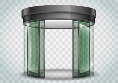Round glass doors