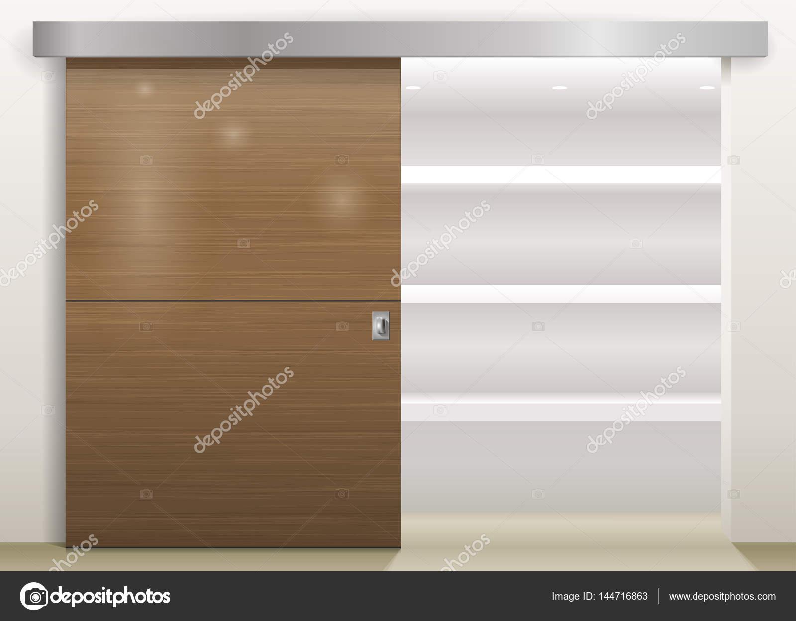 Garderobe Met Schuifdeuren.Schuifdeur Garderobe Stockvector C Denisik11 144716863