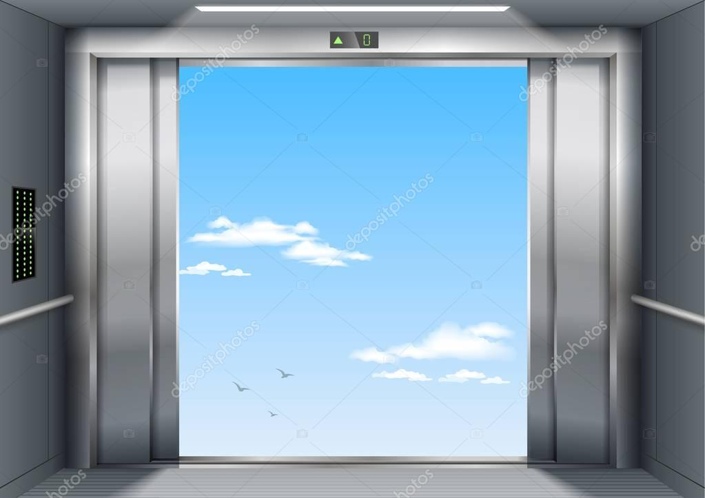 Open the elevator doors