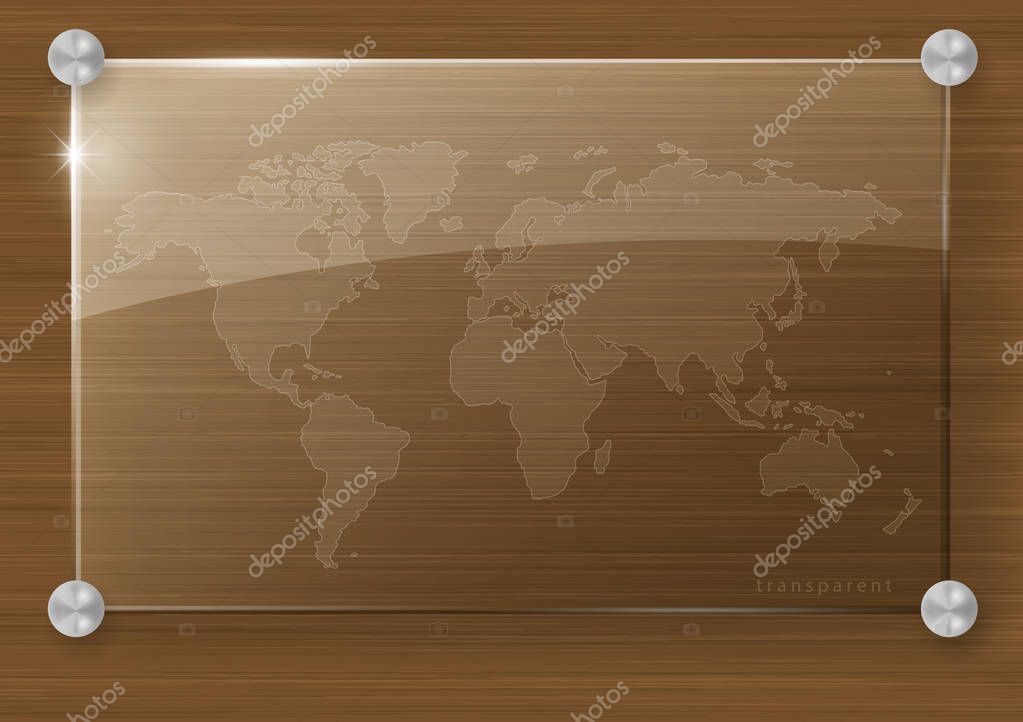 Transparent world map