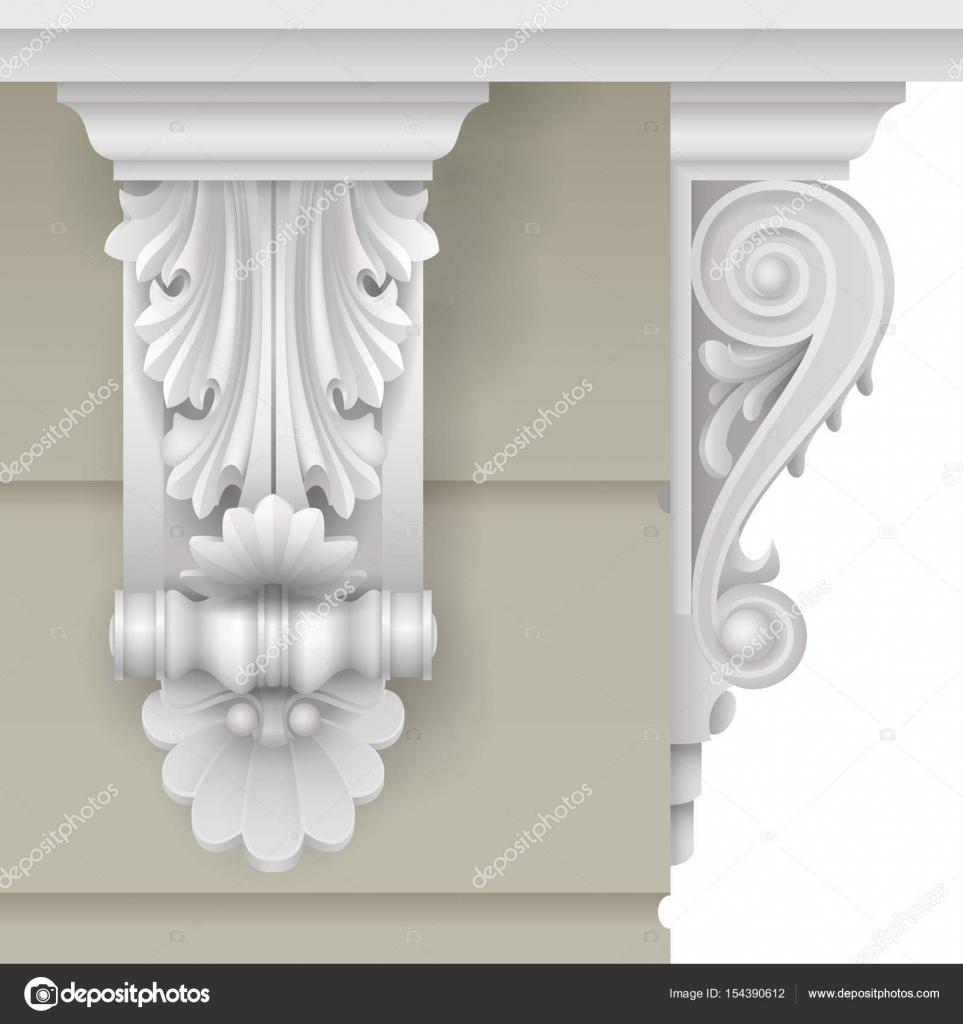 Klassische Fassade Halterung — Stockvektor © denisik11 #154390612