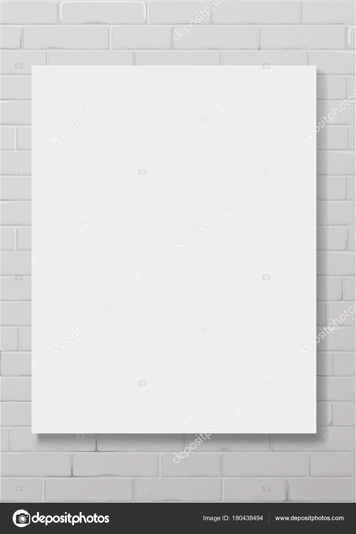 Marco vacío blanco vertical — Vector de stock © denisik11 #180438494