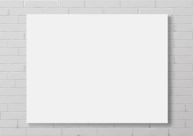 Horizontal white empty frame