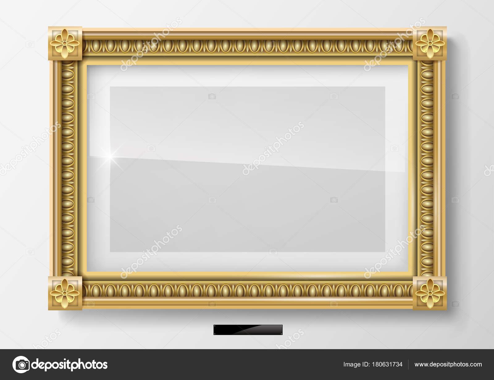 Cuadro horizontal clásico en marco de oro — Archivo Imágenes ...
