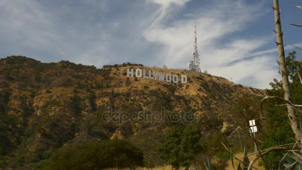 A légi felvétel a szórakozás szimbólum Holywood jele