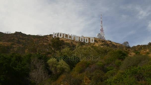 Letecký pohled na zábavy Symbol Holywoodu znamení
