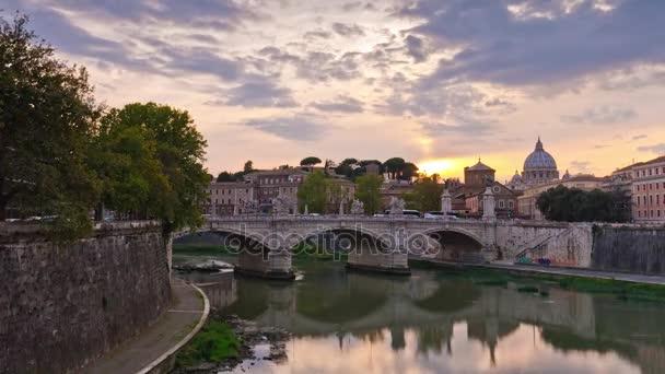 famous tiber river bridge
