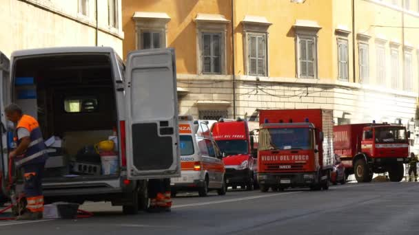 Požáru nehoda na římské ulici
