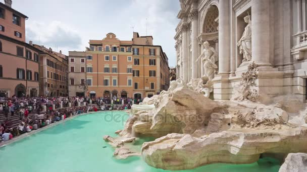 famous trevi fountain panorama
