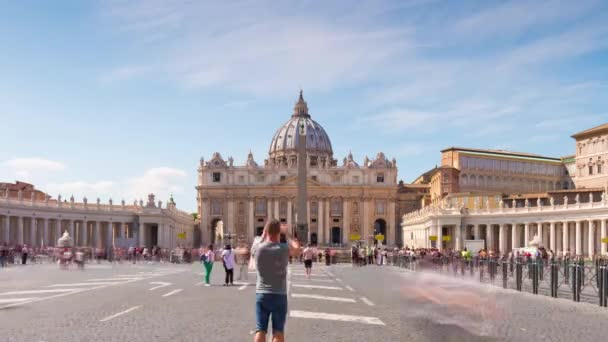 italy summer day vatican famous piazza san pietro panorama 4k time lapse