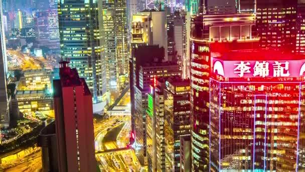 Panorama Noční panoráma města Hong Kong