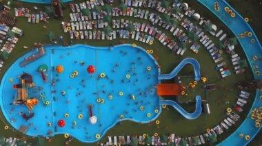 Blue waterpark pool