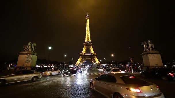 Beautiful Eiffel Tower at night