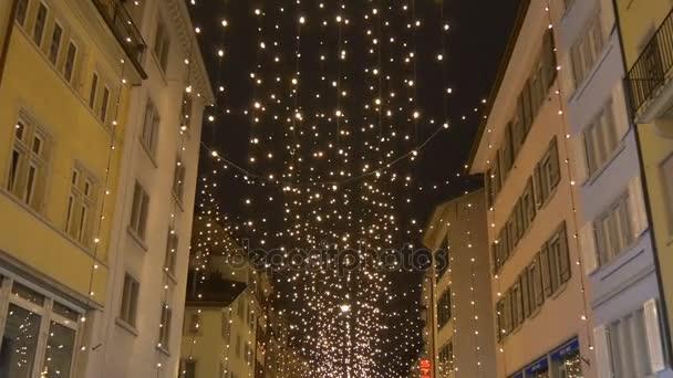 Zurich illuminated in christmas decoration