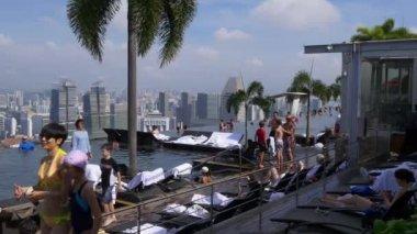 Famous marina bay sands hotel