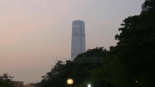 Hong Kong mrakodrapy panorama