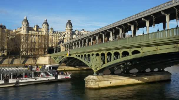 old seine river bridge panorama
