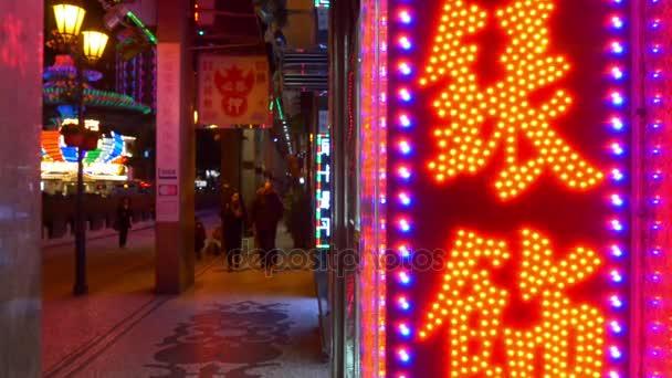 osvětlené ulice pěší panorama