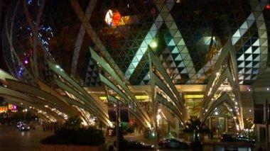 illuminated macau famous hotel