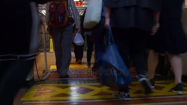 noční trajekt město hong kong přeplněné Čína hlediska 4k výstupu
