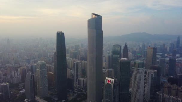 Day time guangzhou industrial cityscape aerial panorama. 4k footage china