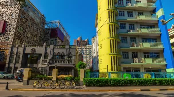 Nap idő forgalom Shanghai utcáin. TimeLapse 4k felvételeket Kína