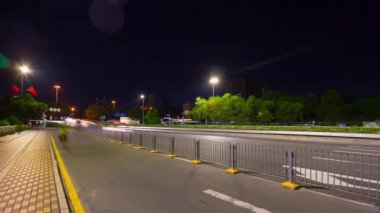 Shen Zhen cityscape traffic with people timelapse footage panorama
