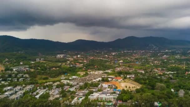 Phuket ostrov buddha mountain zániku panorama 4k time lapse Thajsko