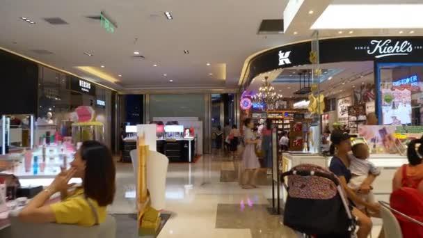 Shenzhen Shekou cruise center interior with tourists 4k China