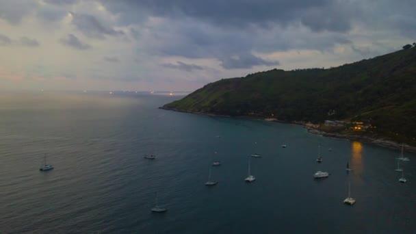 panorama shot of famous resort beach of phuket island. 4k timelapse footage