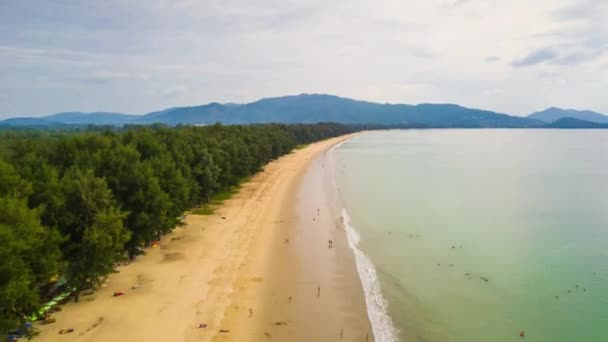 panorama shot of famous resort beach of phuket island. 4k timelapse footage