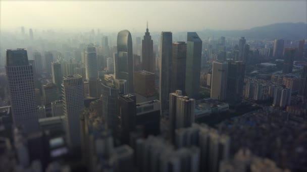 Este guangzhou városkép légi panoráma. 4k felvétel Kína