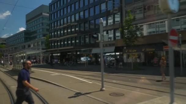 4k Footage of street life of Zurich, Switzerland