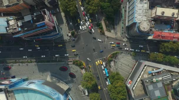 Day time flight over nanjing city traffic aerial panorama 4k footage