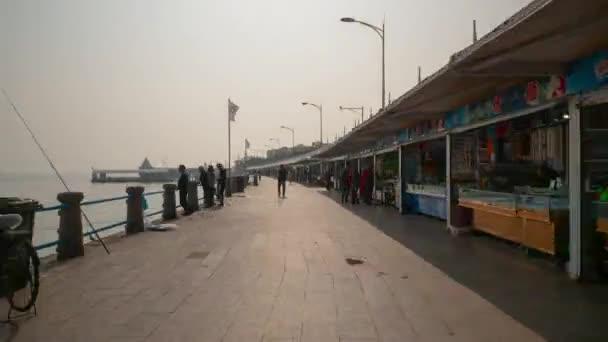 Den čas Qingdao město v centru timelapse chůze panorama 4k porcelánu