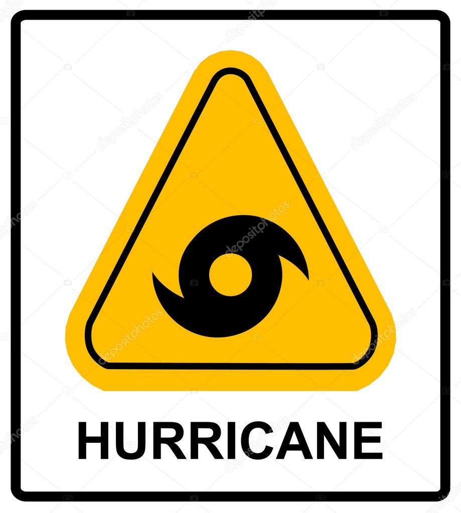 Hurricane Warning Sign Stock Vector Merly69 126209118