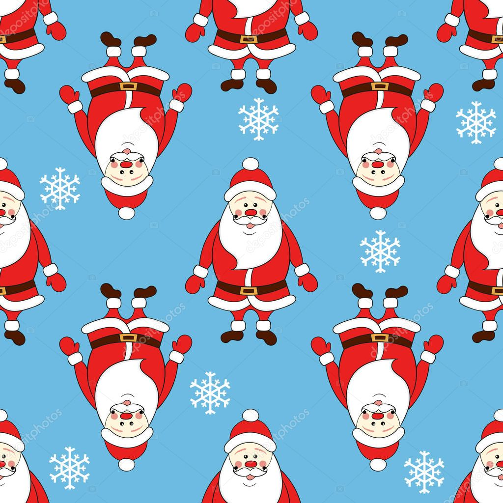 69 Cartoon Wallpaper Christmas Seamless Pattern With