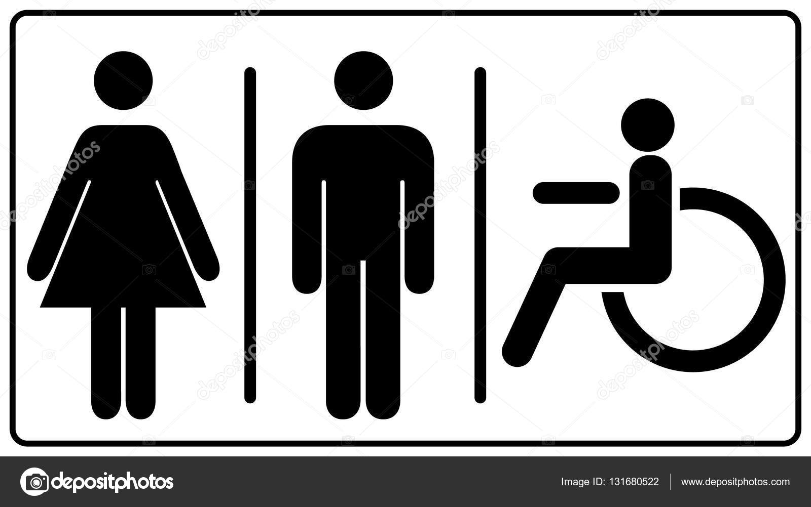 men s bathroom signs printable. Vector Illustration Of Mens And Womens Disabled Restroom Sign - Printable Restroom, Toilette Signs, Invalid Icon. Symbols For Public Places, Men S Bathroom Signs