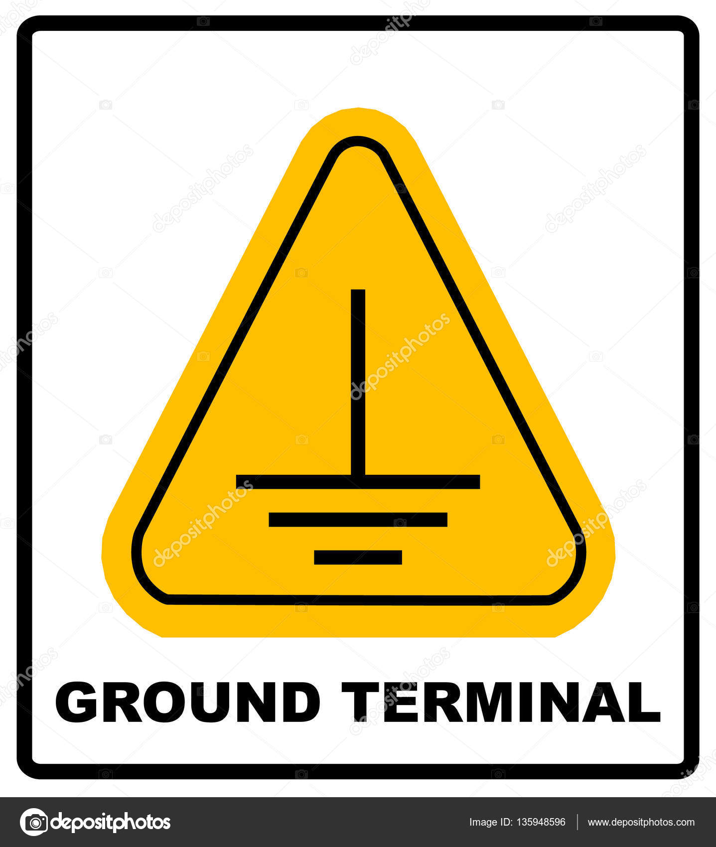 Electrical Grounding Sign Stock Vector Merly69 135948596