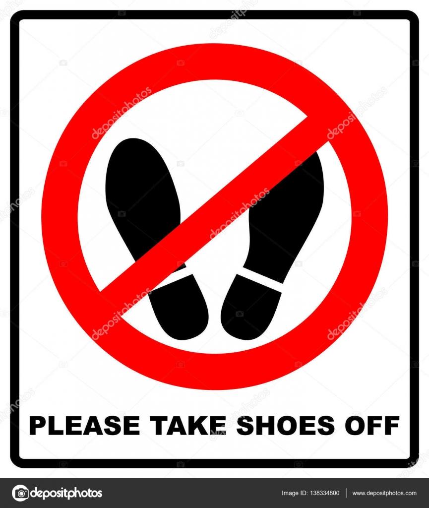 Bitte Schuhe Ausziehen treten sie nicht hier bitte zeichen vektor illustration