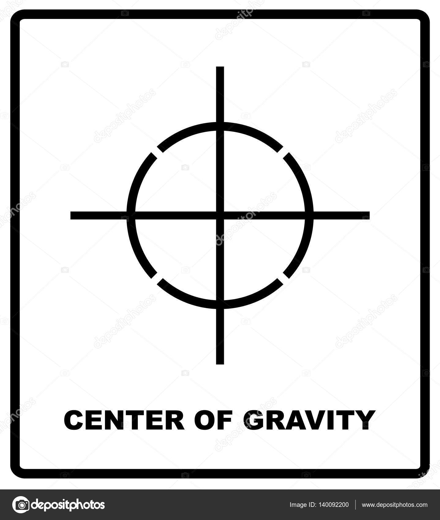 Center of gravity packaging symbol on a corrugated cardboard box center of gravity packaging symbol on a corrugated cardboard box for use on cardboard boxes biocorpaavc Choice Image