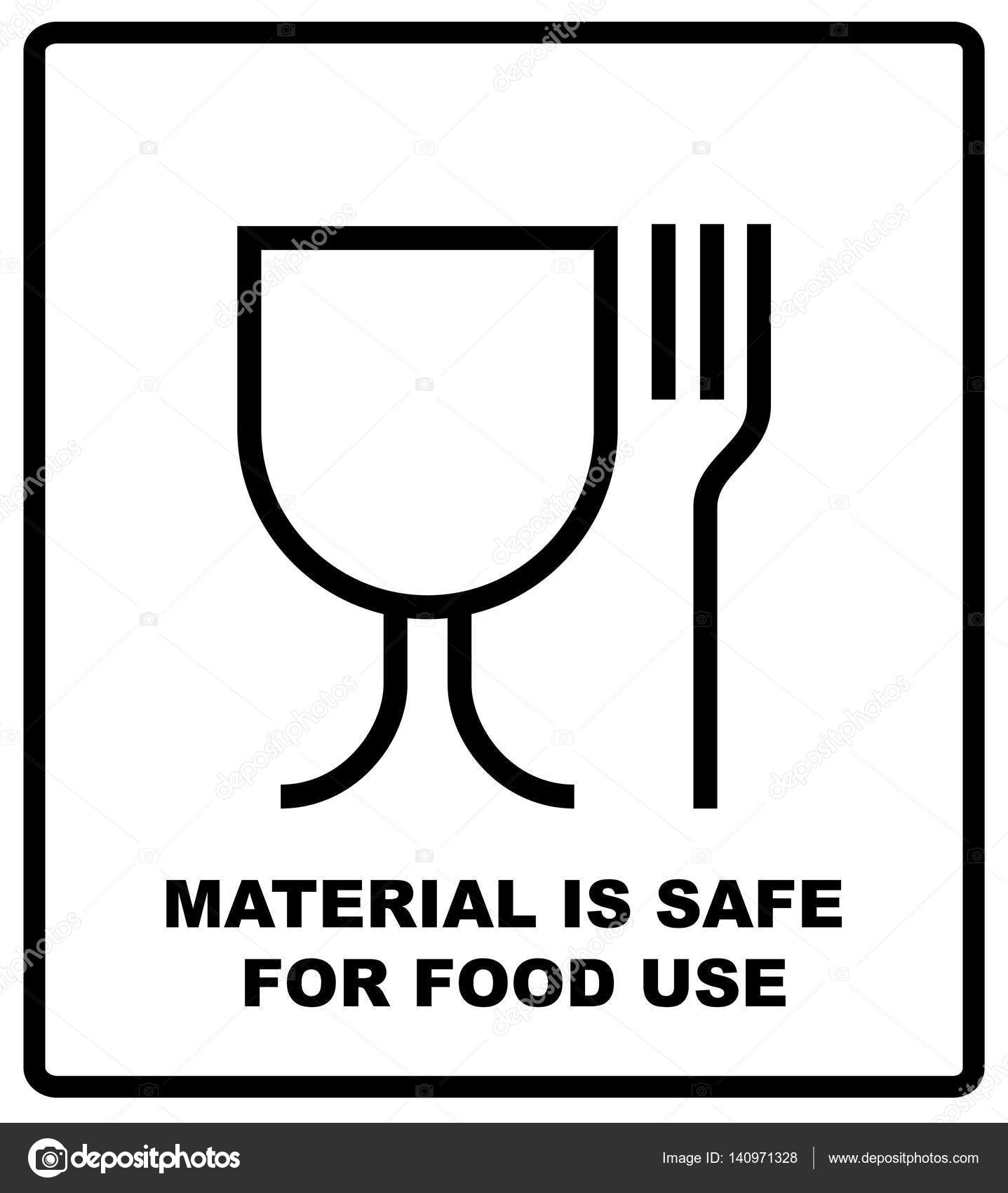 Material is safe for food use icon fork and glass simple black sign material is safe for food use icon fork and glass simple black sign symbol biocorpaavc Gallery