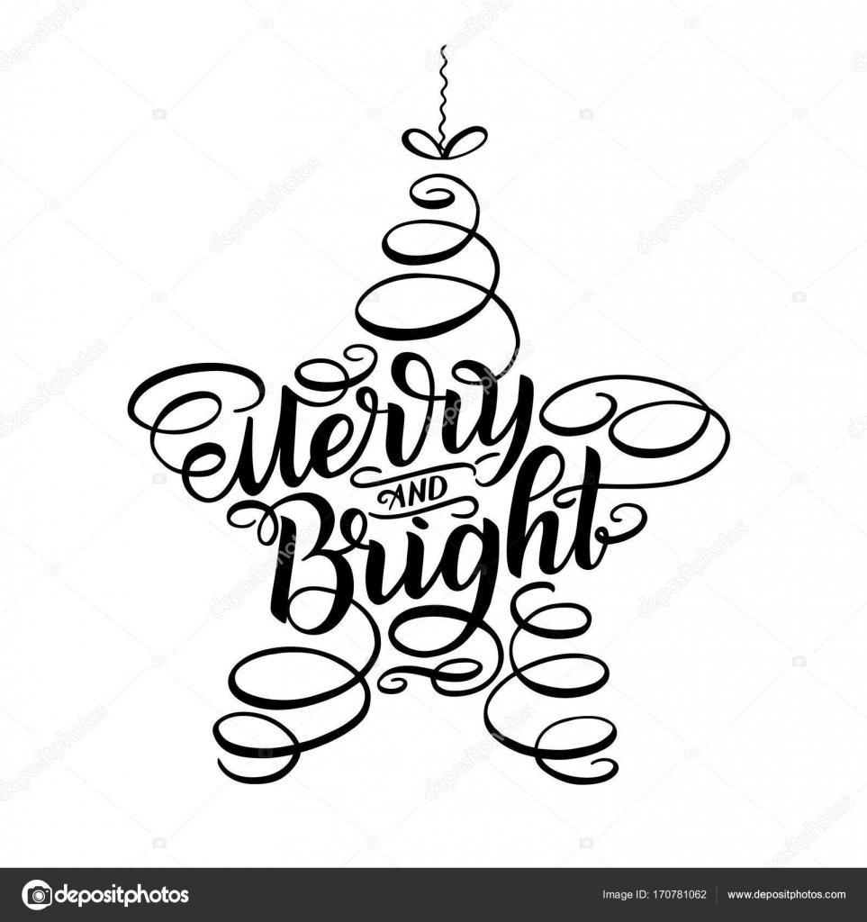 Merry Ve Yeni Yıl Parlak Yazı Yıldız şeklinde Oyuncak Tebrik Kartı