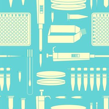 pcr lab equipment seamless pattern