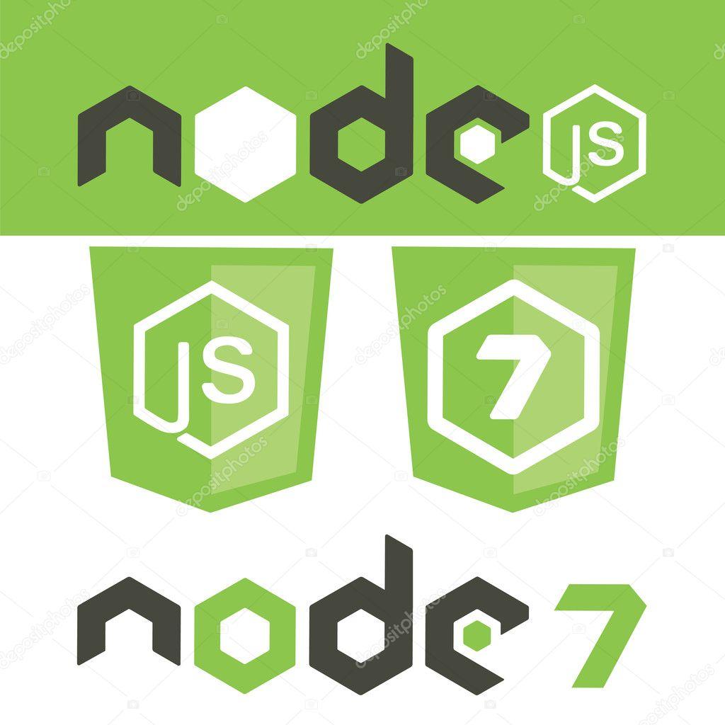 NodeJS Rahmen Schild — Stockvektor © GreenVector #128483318