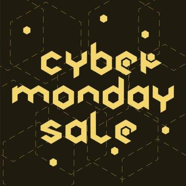 Cyber monday sale hexagonal