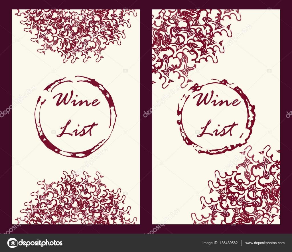 Modle De Flyer Et Cartes Vin Situ Dans Le Style Vintage Illustration Vectorielle Stock Pour Vigne Production Company Vignoble Restaurant Ou Bar Promo