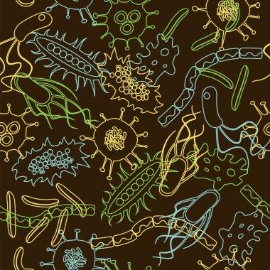 bacteria seamless pattern