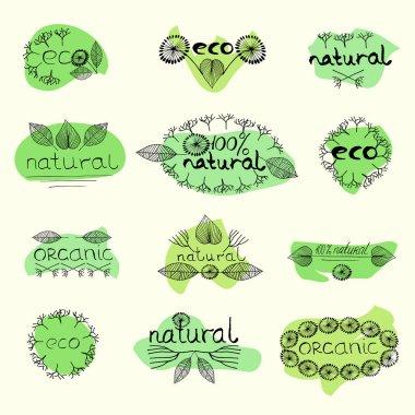 organic eco natural badge